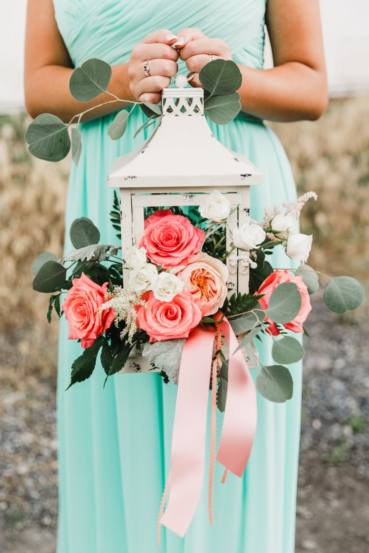 Pink and aqua wedding