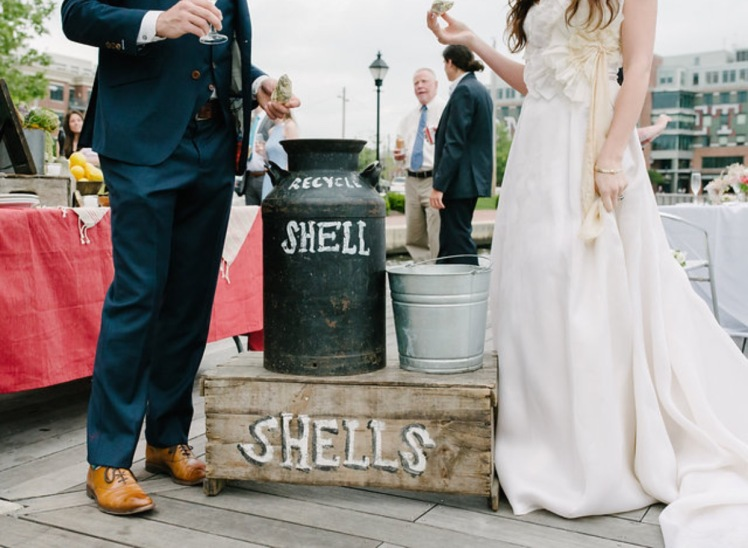 chesapeake bay wedding decor