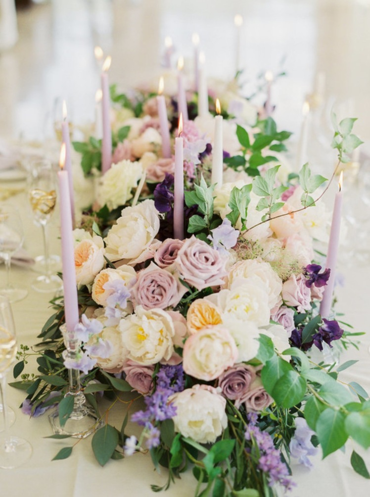purple lilac wedding flowers