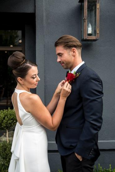 bun bridal hair