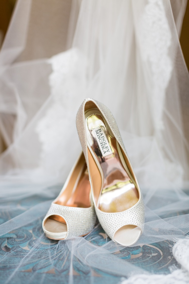 white sequin wedding shoes