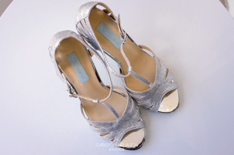 betsey johnso silver wedding shoes