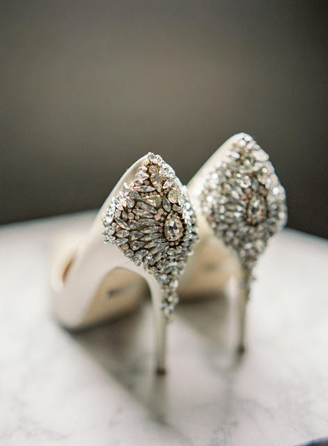 blingy wedding shoes